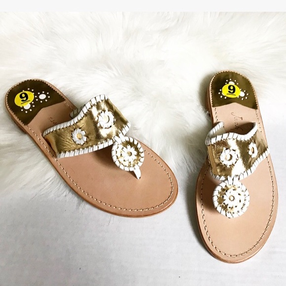 7040ae8eeb68 Jack Rogers Shoes - Jack Rojers Palm Beach flat gold sandals